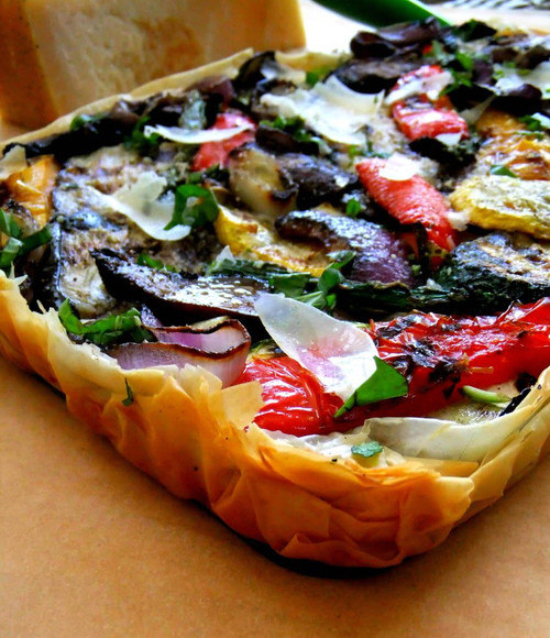 Vegetable Tart - (Free Recipe below)