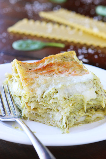 Spinach Artichoke Lasagna - (Free Recipe below)