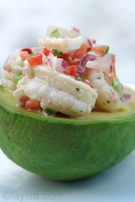 Shrimp Salad Stuffed Avocado - (Free Recipe below)