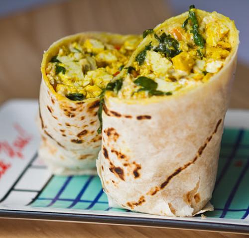 Vegan Breakfast Burrito Wrap - (Free Recipe below)