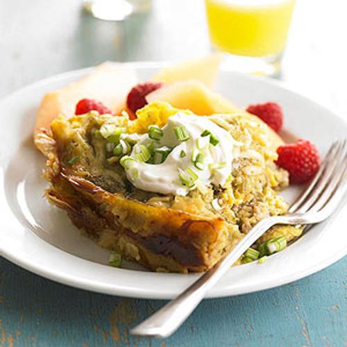 Chile Verde Breakfast Lasagna - (Free Recipe below)