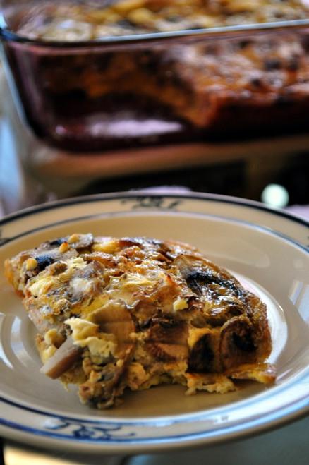 Healthy Mushroom & Turkey Sausage Breakfast Bake (GF, DF) - (Free Recipe below)