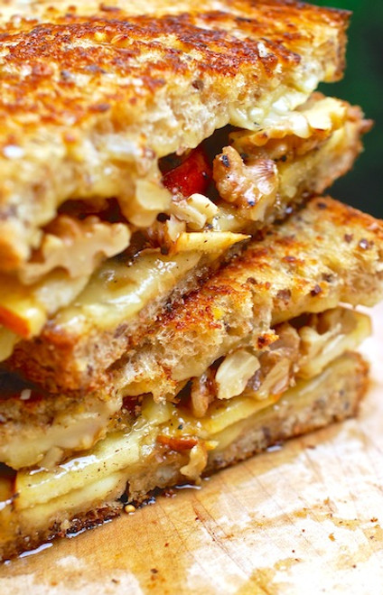 Fontina, Apple, Honey Grilled Cheese - (Free Recipe below)