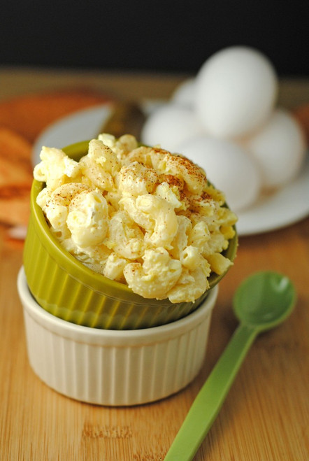 Deviled Egg Macaroni Salad - (Free Recipe below)