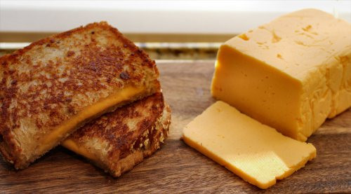 Homemade American Cheese Grilled Cheese Sandwich - (Free Recipe below)