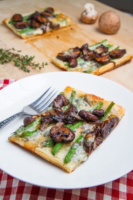 Green Bean, Mushroom and Caramelized Onion Tart - (Free Recipe below)