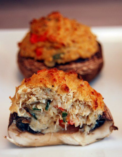Crab Stuffed Portabella Mushrooms - (Free Recipe below)