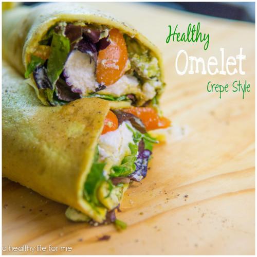 Healthy Omelet Crepe Style - (Free Recipe below)