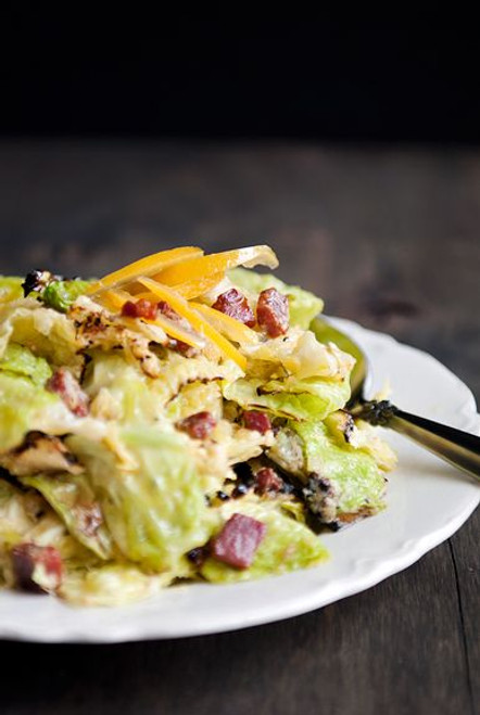 Charred Savoy Cabbage Salad - (Free Recipe below)