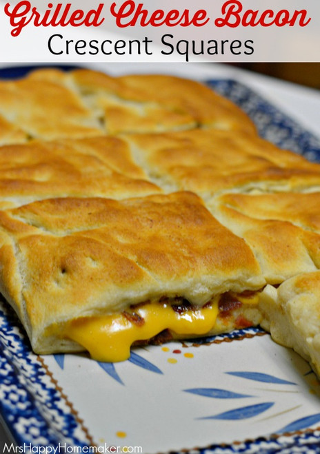 Grilled Cheese Bacon Crescent Squares - (Free Recipe below)