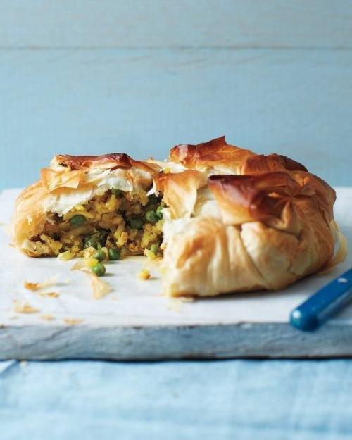 Curried Chicken and Potato Pie - (Free Recipe below)
