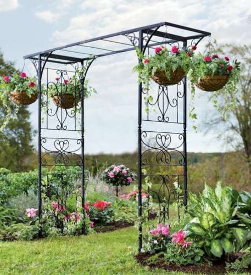 Grand Iron Garden Arbor - perfect for a wedding!