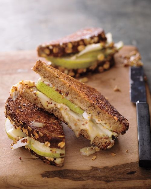 Brie, Pear, and Mustard Grilled Cheese - (Free Recipe below)