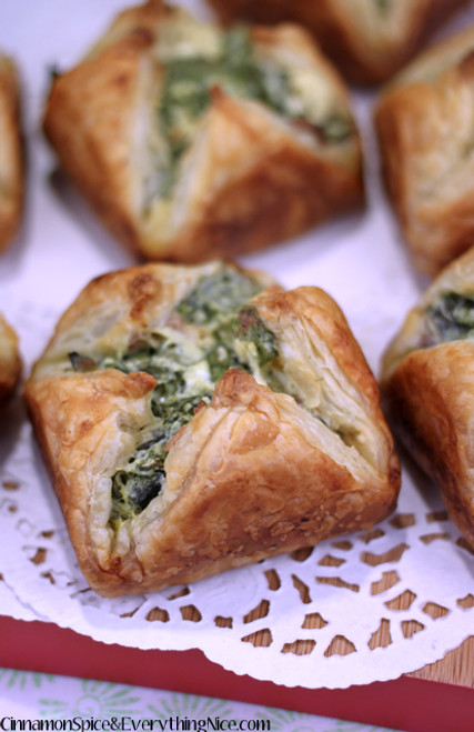 SPINACH BACON CHEESE PUFFS - (Free Recipe below)