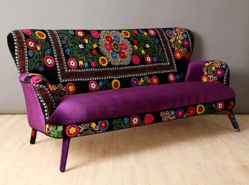 Winter Suzani 3 Seat Sofa