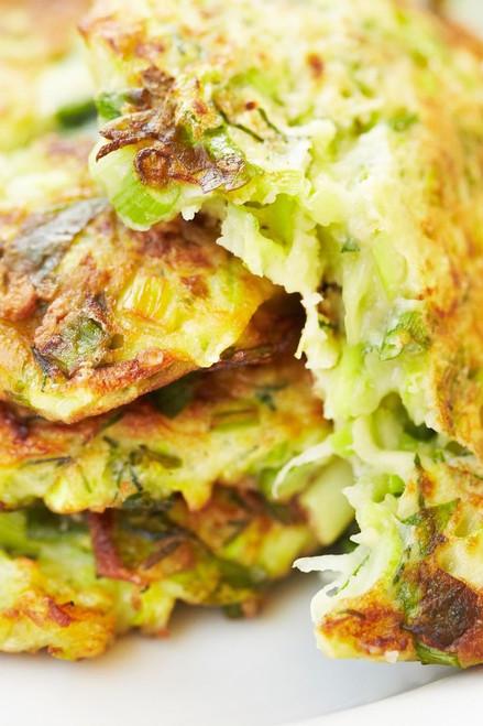 Crispy Zucchini and Potato Pancakes - (Free Recipe below)