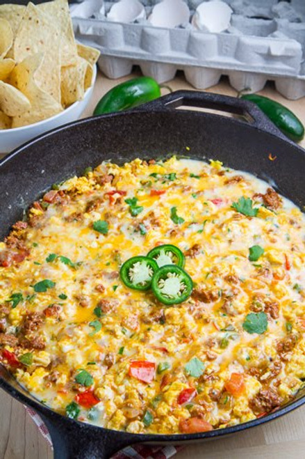 Breakfast Queso Fundido - (Free Recipe below)