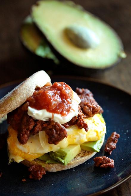 Chorizo and Egg Breakfast Sandwich - (Free Recipe below)