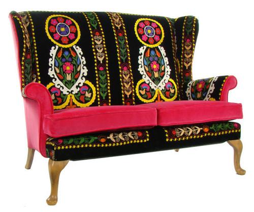 Vintage Suzani Loveseat - multiple color designs