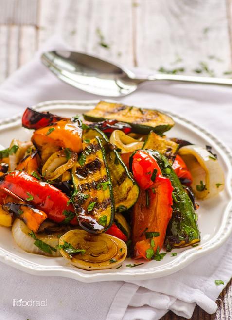 Grilled Balsamic Vegetables - (Free Recipe below)