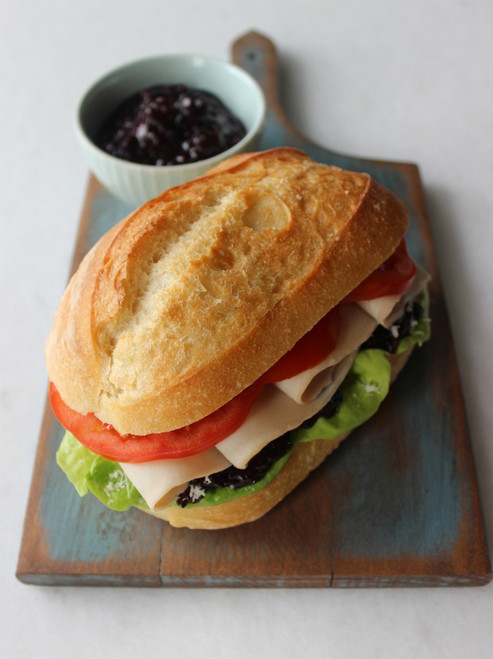 Roasted Turkey Sandwich With Blueberry Chutney - (Free Recipe below)