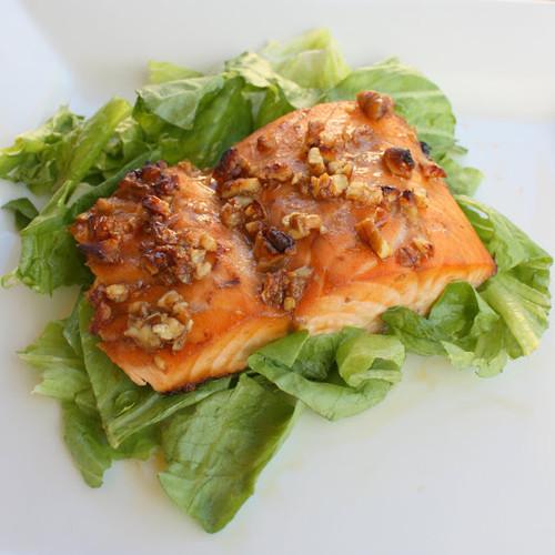 Honey and Pecan Glazed Salmon - (Free Recipe below)