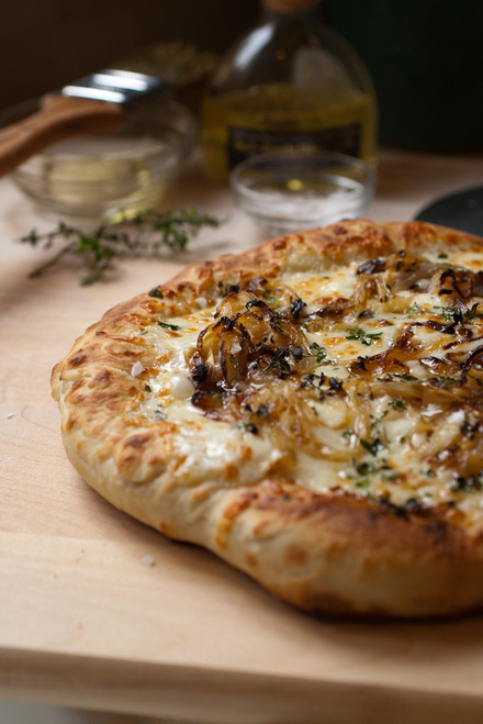 Truffle & Caramelized Onion Pizza - (Free Recipe below)
