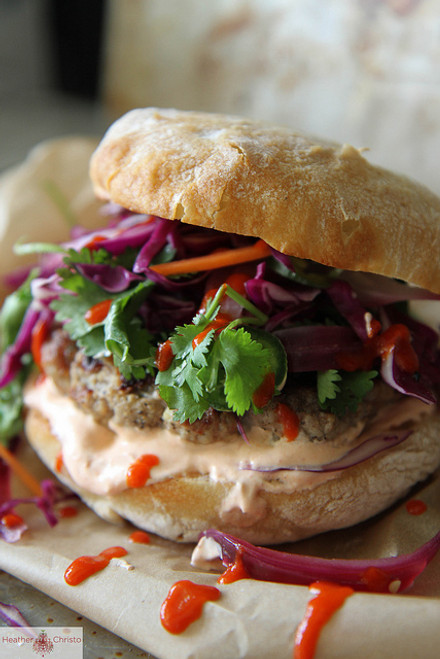 Grilled Asian Pork Burger - (Free Recipe below)