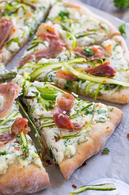 ASPARAGUS RIBBON & RICOTTA PIZZA - (Free Recipe below)