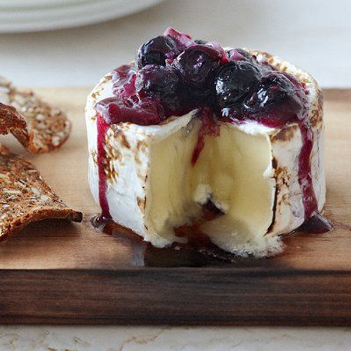 Smoky Brie with Blueberry Sauce - (Free Recipe below)