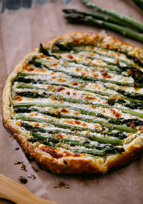 Asparagus Goat Cheese Galette - (Free Recipe below)