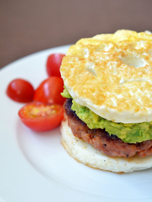 Paleo Sausage Egg McMuffin - (Free Recipe below)