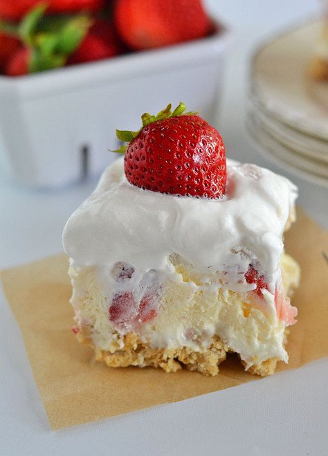 Strawberry Cheesecake Lush - (Free Recipe below)