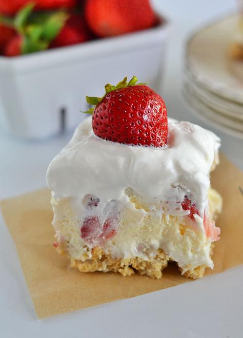 Strawberry Cheesecake Lush - (Free Recipe below)