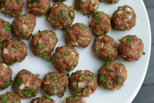 Spinach Cilantro Meatballs - (Free Recipe below)