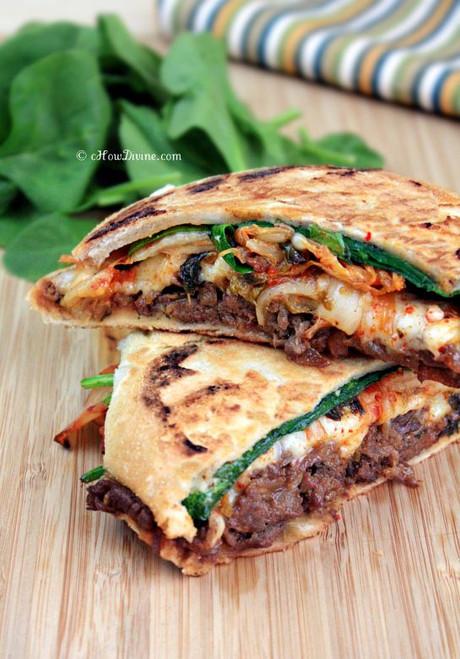 Kimchi Bulgoi Sandwich Panini - (Free Recipe below)