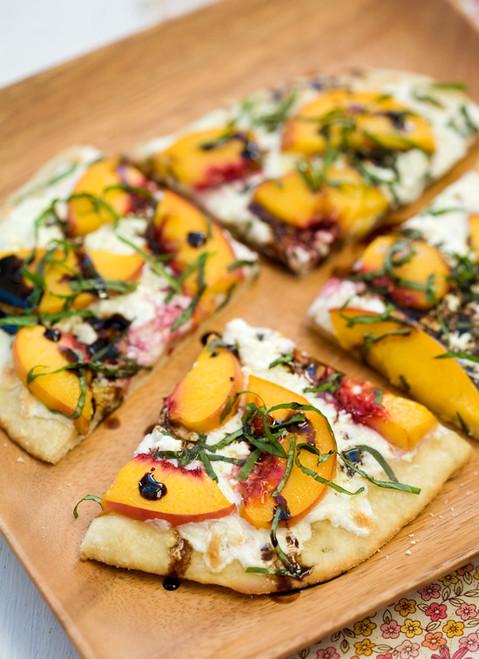 Summer Peach and Balsamic Pizza - (Free Recipe below)