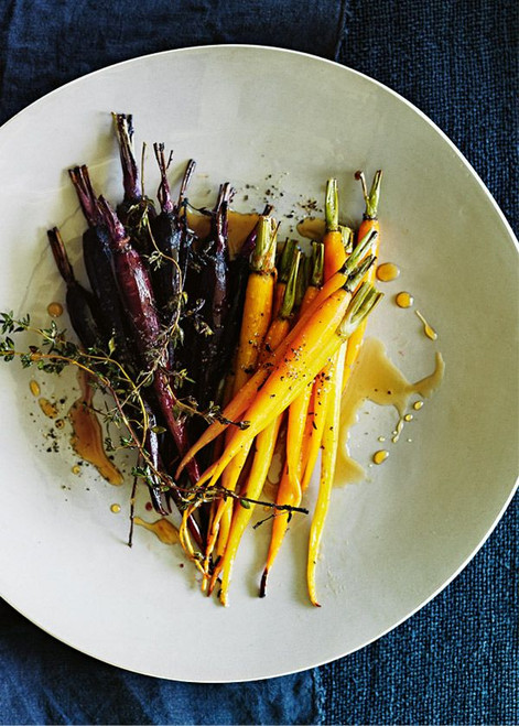 Honey and Lemon Thyme Roasted Carrots - (Free Recipe below)