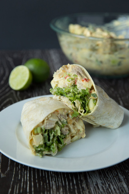 Curried Chicken Salad and Apple Wraps - (Free Recipe below)