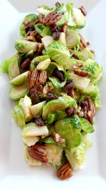 Brussel Sprout Salad with Dijon Mustard Dressing - (Free Recipe below)