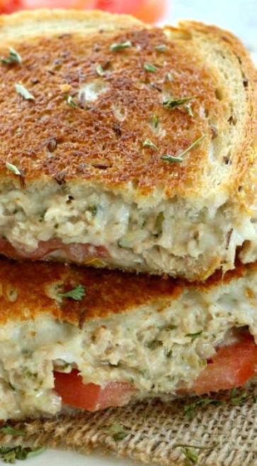 Parmesan Pesto Tuna Melts - (Free Recipe below)