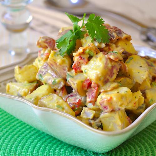 Bacon Potato Salad with Sweet Mustard Dressing - (Free Recipe below)