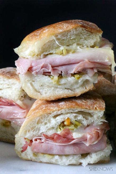 Mini Muffuletta Sandwiches - (Free Recipe below)