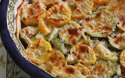Zucchini and Squash Au Gratin - (Free Recipe below)