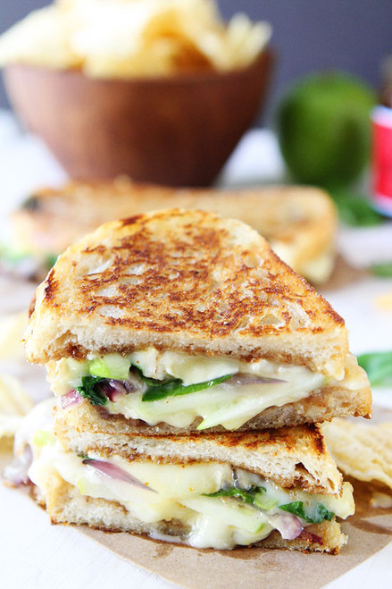 Brie, Fig, and Apple Grilled Cheese - (Free Recipe below)