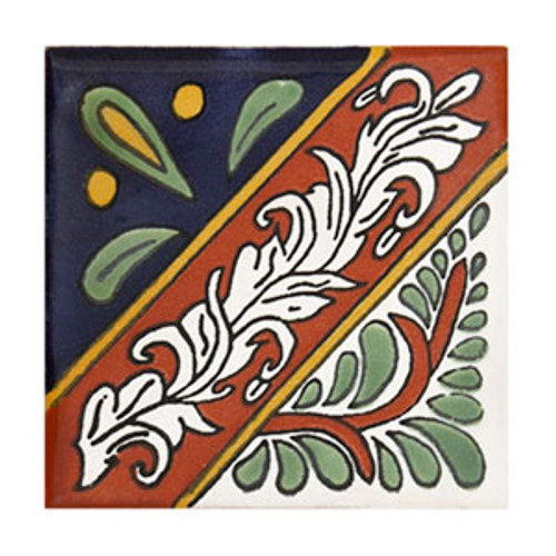 "Talavera Tile - TIL052 - Pack of 25 - 4"" x 4"""