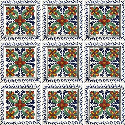 """Talavera Tile -TIL374A - 4"""" x 4"""""""