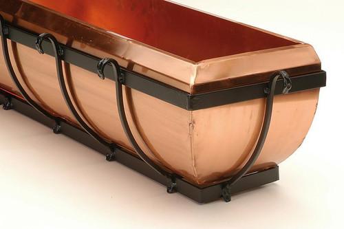 """Classic Copper Window Box Planter 36"""""""