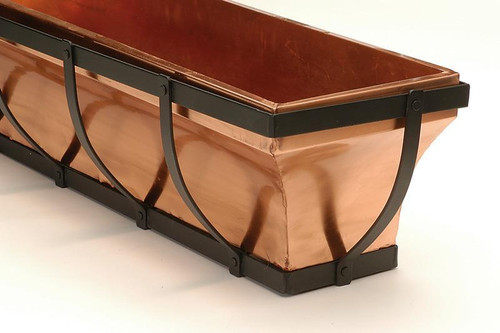 "Metal & Copper Window Box Planter 36"""