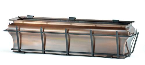 "Copper Ogee Window Box Planter 36"""